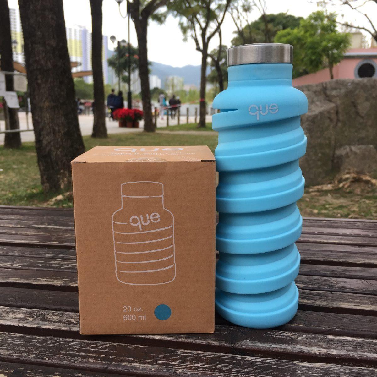 Que Bottle 伸縮矽膠水壺 Collapsible Travel Water Bottle 20oz
